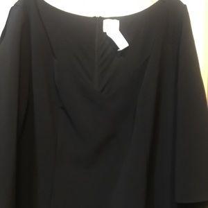 Woman's 22W Dress Barn black dress 3/4 sleeves